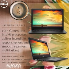 "Inspiron 3593, Ci5 10TH IL, 4Gb, 1Tb, 2Gb, 15.6"" FHD, DOS Black"