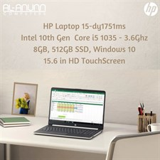 "HP Notebook 15-dy1751ms, Ci5 10TH IL, 8Gb, 512GB SSD, 15.6"" HD TOUCH, W10"
