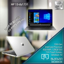 "HP Laptop 15-dy1731ms, Ci3 10TH IL, 8Gb, 128GB SSD, 15.6"" HD Touch, W10"