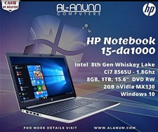 HP Notebook 15-da1000ne Ci7 8Th Gen