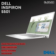 "Dell Inspiron 5501, CI7 10TH, 16GB, 512GB SSD, 15,6"" FHD, FP-R, BL-K, W10"