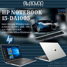 "HP Notebook 15-DA1005ne, Ci5 8TH WL, 4Gb, 1Tb, 2GBnVidia, 15.6"" FHD, W10, Silver"