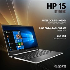 "HP Notebook 15-dy1076nr, Ci5 10TH, 8Gb, 256SSD, 15.6"" HD, W10, Silver"