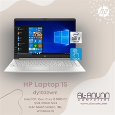 "HP Notebook 15-dy1032wm Ci3 10Th, 8GB, 128SSD, 15.6"" HD TOUCH, BL-K, W10-S, Silver"