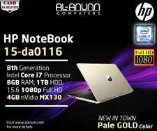 HP Notebook 15-da0116 Ci7 8Th Gen