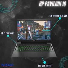 "HP Pavilion Gaming Laptop - 16-a0020nr, Ci5 10th, 8GB, 512GB +32GB Opt, 16.1"" FHD 144Hz, 6GB GTX 166"