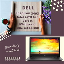 "Dell 3493, Ci5 10TH IL, Ci5 10TH WL, 4Gb, 128GB SSD, 14"" HD, W10-S Black"